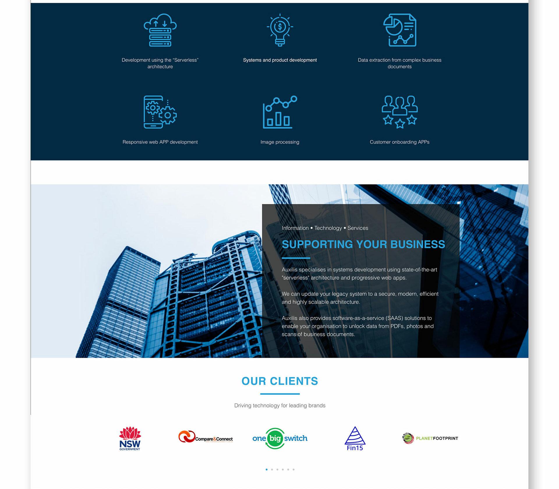 Auxilis-Homepage